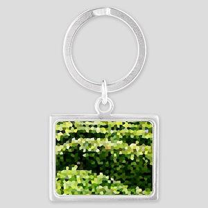 Mosaic Spring Cat Forsley Desig Landscape Keychain