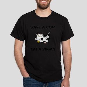 Save Cow Vegan Dark T-Shirt