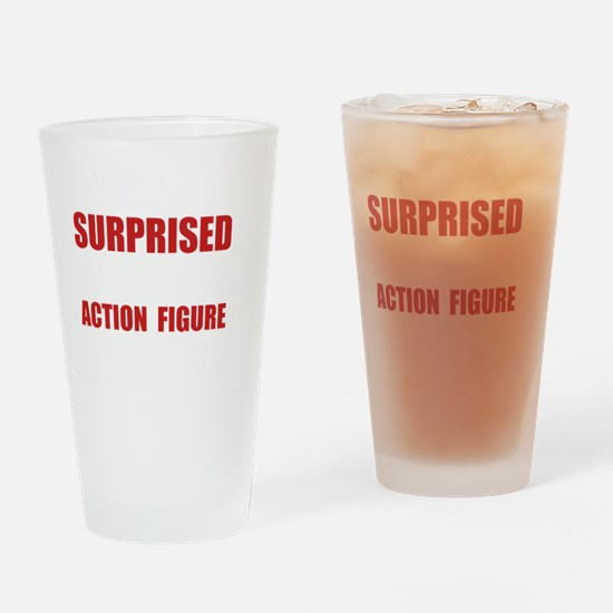 Surprised Action Figure Drinking Glass