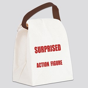 Surprised Action Figure Canvas Lunch Bag