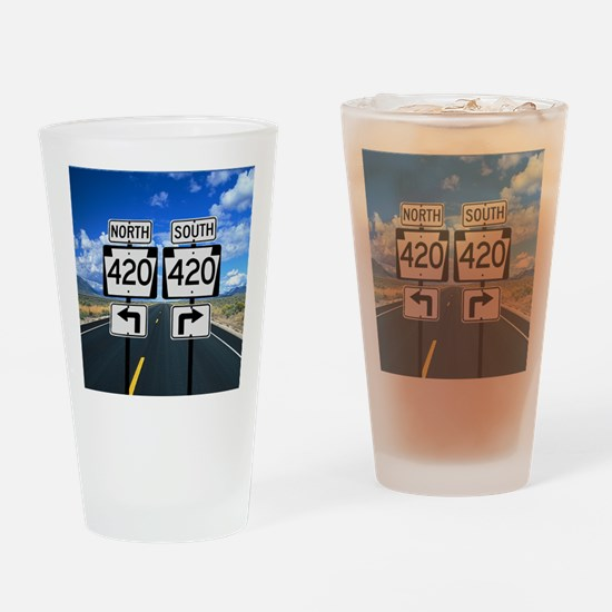420 Roadsigns Drinking Glass