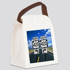 420 Roadsigns Canvas Lunch Bag