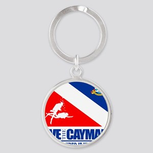 Dive The Caymans Round Keychain