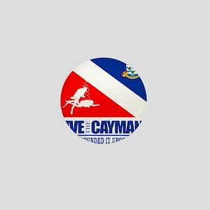 Dive The Caymans Mini Button