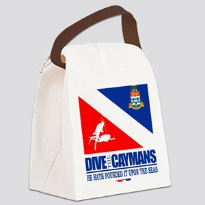 Dive The Caymans Canvas Lunch Bag