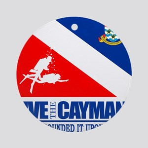 Dive The Caymans Round Ornament