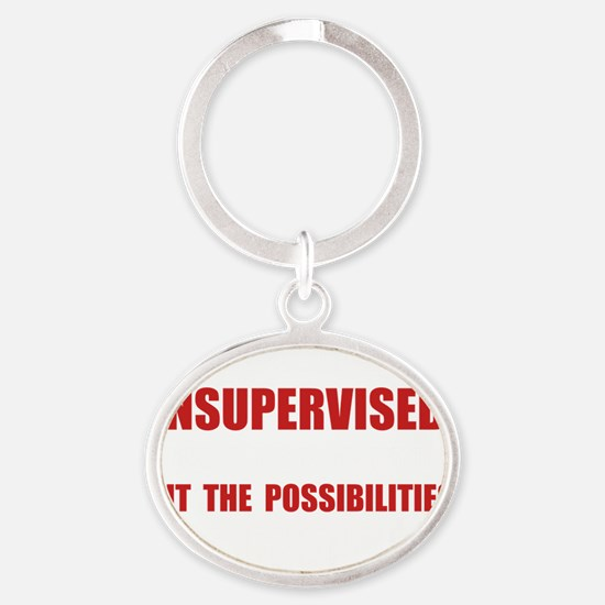 Unsupervised Oval Keychain