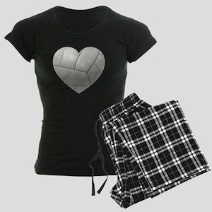 Volleyball Heart Women's Dark Pajamas
