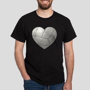 Volleyball Heart Dark T-Shirt