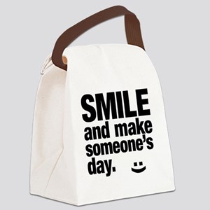 Smile and make someone's day. Canvas Lunch Bag