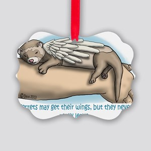 Winged Ferret Picture Ornament