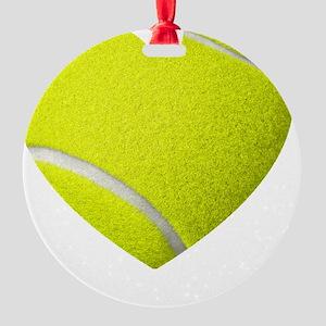 Tennis Heart Round Ornament