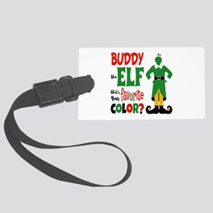 Buddy Elf Favorite Color Large Luggage Tag