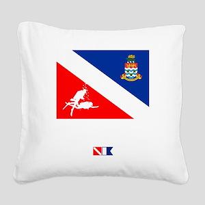 Dive The Caymans Square Canvas Pillow