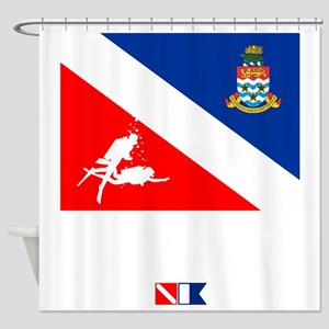 Dive The Caymans Shower Curtain