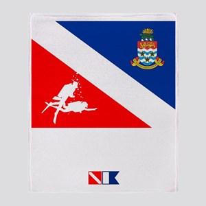 Dive The Caymans Throw Blanket