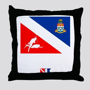 Dive The Caymans Throw Pillow