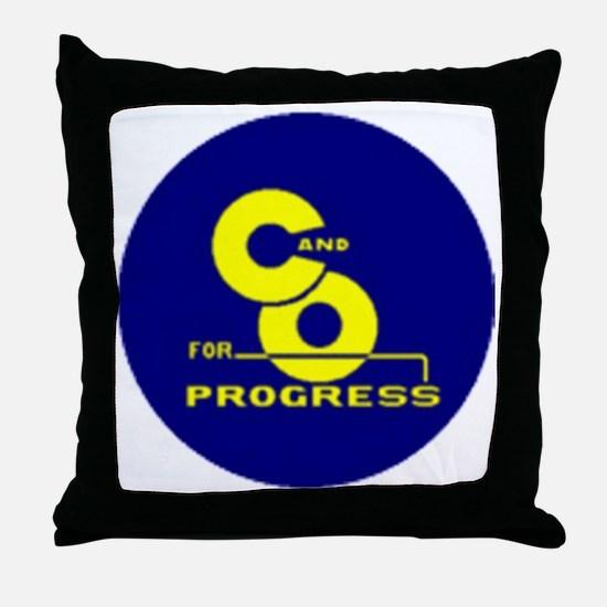 chesapeake and ohio Throw Pillow