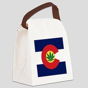 Colorado State Pot Flag Canvas Lunch Bag