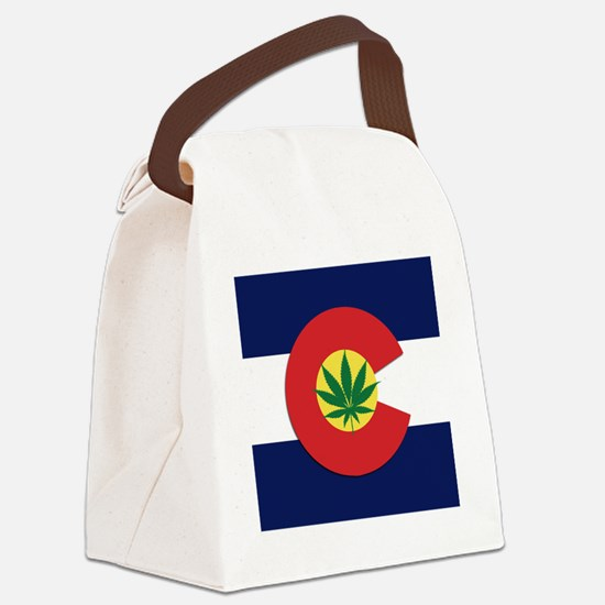 Colorado State Pot Flag Canvas Lunch Bag