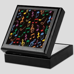 Music Notes Keepsake Box