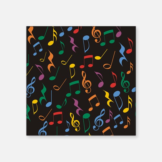 """Music Notes Square Sticker 3"""" x 3"""""""