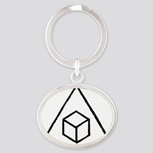 Delta Cubes Oval Keychain