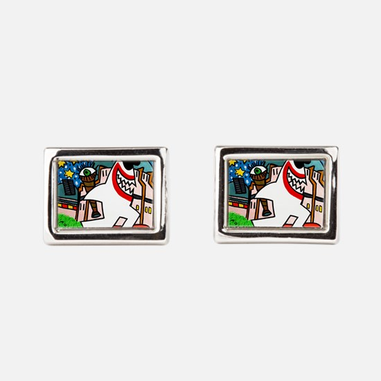 Sharks in the City: Griffith Observatory Cufflinks