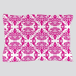 Damask Pink Pillow Case