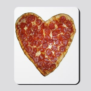 heart pizza Mousepad