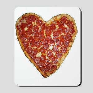 heart pizza Mousepad