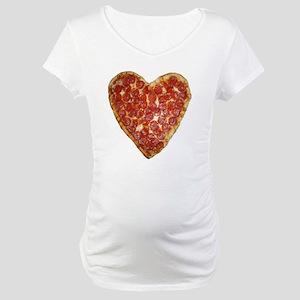 heart pizza Maternity T-Shirt
