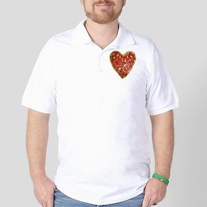 heart pizza Golf Shirt
