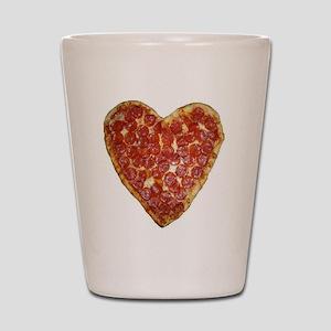 heart pizza Shot Glass