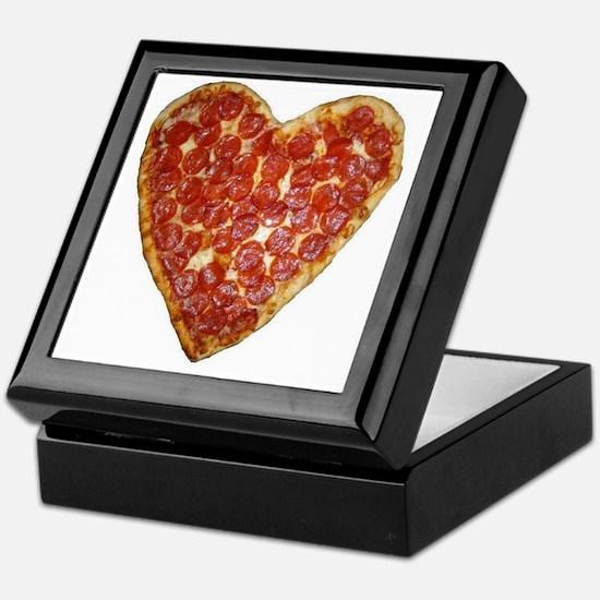 heart pizza Keepsake Box