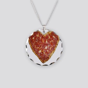 heart pizza Necklace Circle Charm
