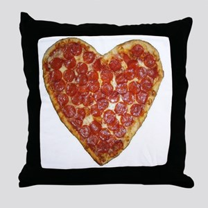 heart pizza Throw Pillow