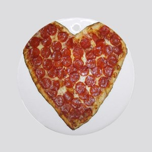 heart pizza Round Ornament