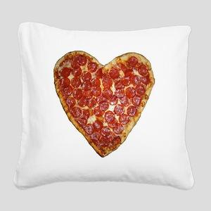 heart pizza Square Canvas Pillow