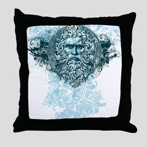 Poseidon King of the Sea Throw Pillow