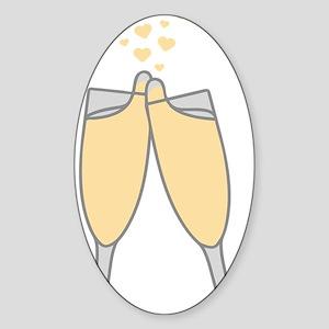Champagne Sticker (Oval)