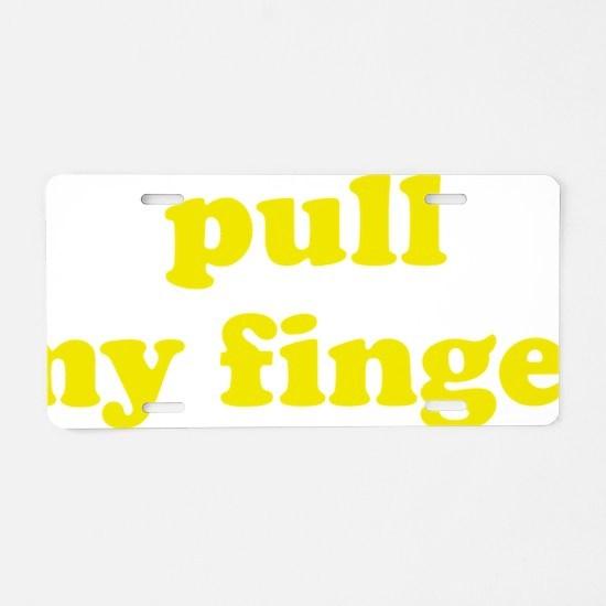pullFing1C Aluminum License Plate
