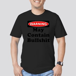 Warning May Contain Bu Men's Fitted T-Shirt (dark)