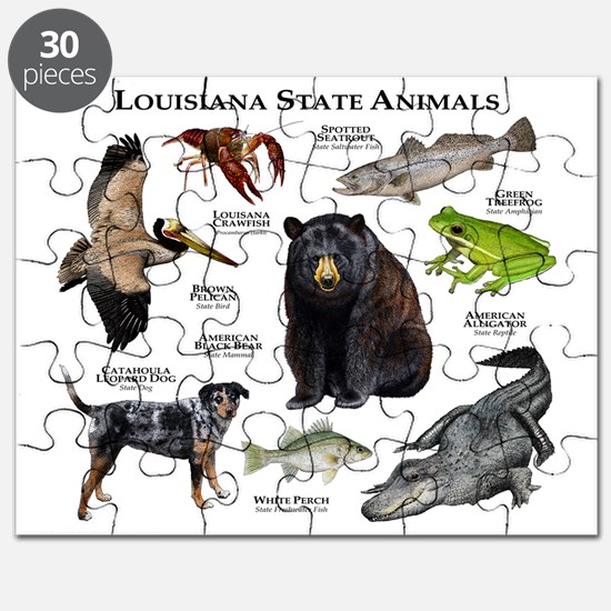 Louisiana State Animals Puzzle