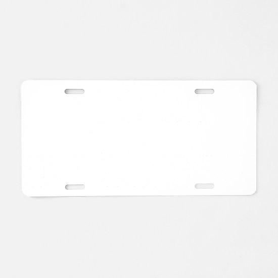 pullFing1B Aluminum License Plate