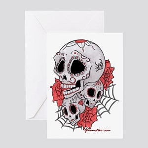 Sugar Skulls and Roses Greeting Card