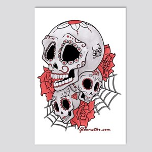 Sugar Skulls and Roses Postcards (Package of 8)