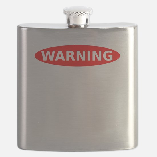 Warning May Contain Alcohol Flask