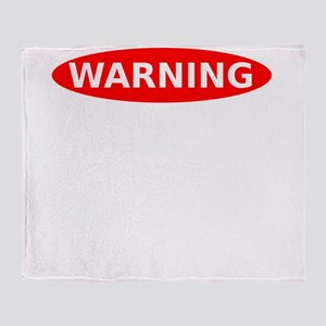 Warning May Contain Alcohol Throw Blanket