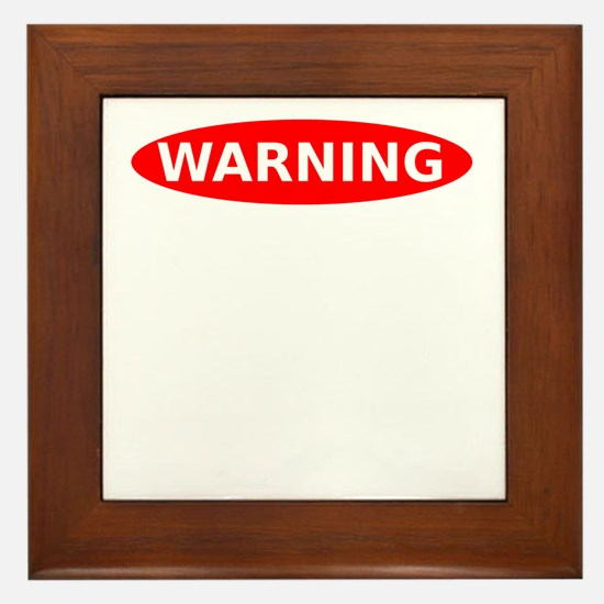 Warning May Contain Alcohol Framed Tile